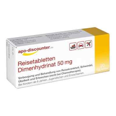 Reisetabletten Dimenhydrinat 50 mg Tabletten von apo-discounter  bei juvalis.de bestellen