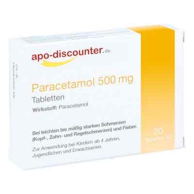 Paracetamol 500 mg Tabletten von apo-discounter  bei juvalis.de bestellen