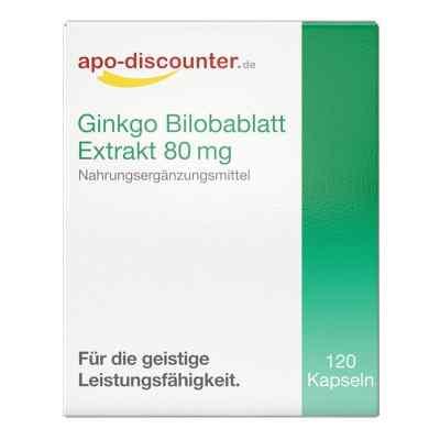 Ginkgo Bilobablatt Extrakt 80 mg Kapseln von apo-discounter  bei juvalis.de bestellen